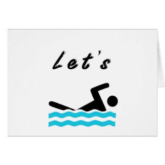 Cartão Deixe-nos ir nadar