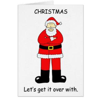 Cartão Deixe-nos obter sobre o Natal com