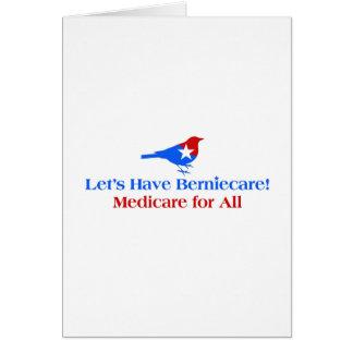 Cartão Deixe-nos ter Berniecare - Medicare para tudo