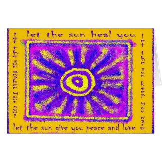 Cartão Deixe o Sun curá-lo