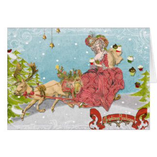 Cartão Deixe-os comer cupcakes para o Natal