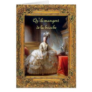 Cartão Deixe-os comer o bolo Marie (francês) Antoinette