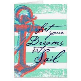 Cartão Deixe sua vela ajustada sonhos
