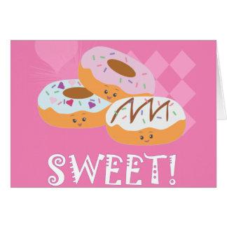 Cartão Deleites do doce - rosquinhas!