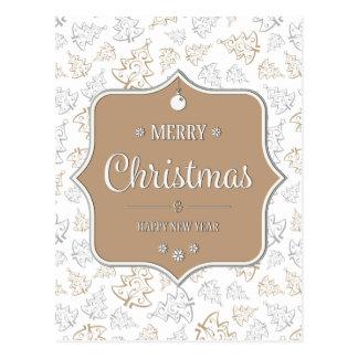 Cartão delicado das árvores de Natal