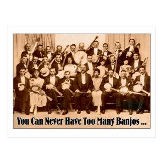 Cartão demais dos banjos