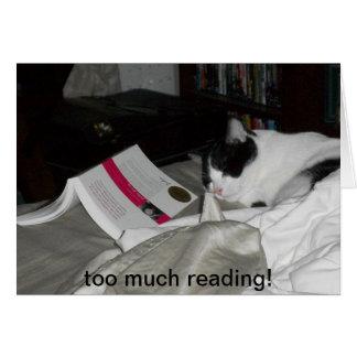 Cartão demasiada leitura