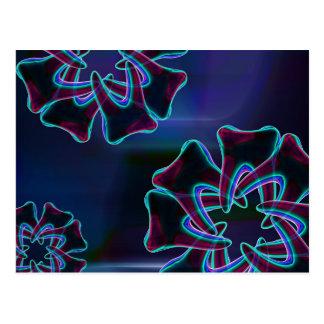 Cartão dental azul da arte do design da flor do