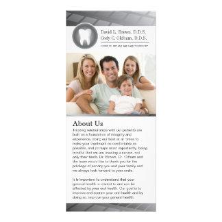 Cartão dental customizável da cremalheira 10.16 x 22.86cm panfleto