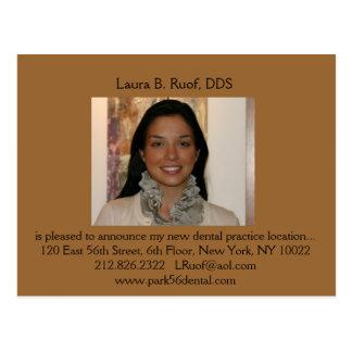 Cartão dental da introdução