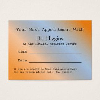 Cartão dental médico alaranjado moderno da