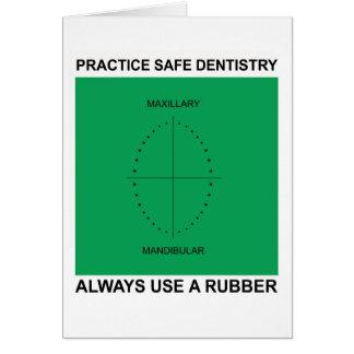 Cartão dental para dentistas