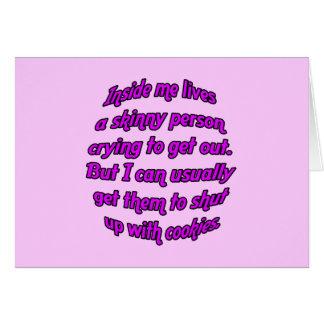 Cartão Dentro de mim vidas uma pessoa magro