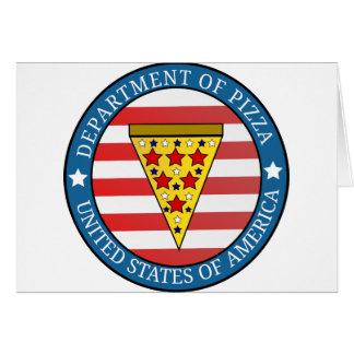 Cartão Departamento da pizza