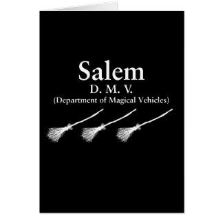 Cartão Departamento de Salem de veículos mágicos