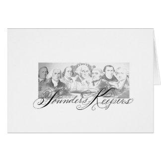 Cartão Depositários dos fundadores