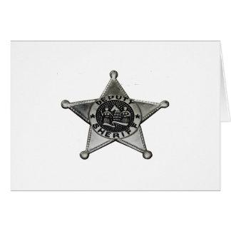 Cartão Deputado xerife