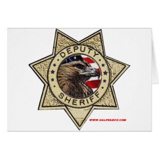 Cartão Deputy_Sheriff_Texturized