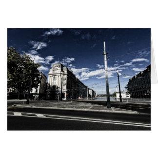 Cartão DES Moulins da rua em Genebra