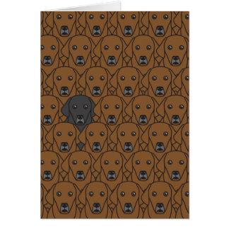 Cartão Desafio a ser você Retrievers de Labrador