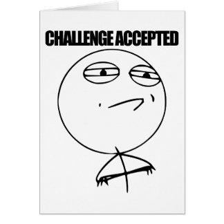 Cartão Desafio aceitado