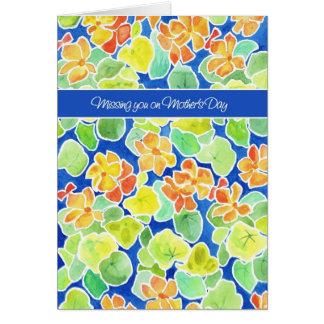 Cartão Desaparecidos florais das chagas brilhantes você