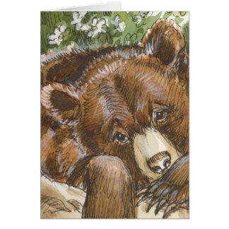 Cartão Descanso do urso de urso