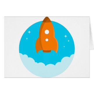 Cartão Descolagem do navio de Rocket
