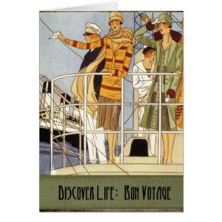 Cartão Descubra a vida:  Bon voyage