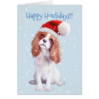 Cartão descuidado do feriado do Spaniel de rei