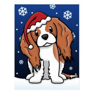 Cartão descuidado do Natal do Spaniel de Kawaii