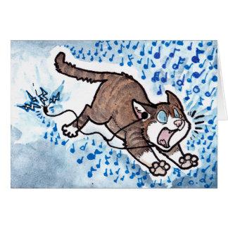 Cartão Desculpa do gato