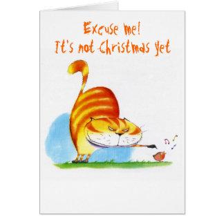 Cartão Desculpe-me! Não é Natal ainda