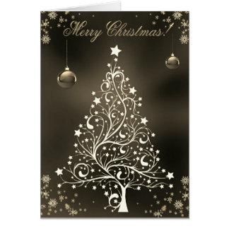 Cartão Desejando a árvore de Natal decorativa do feriado