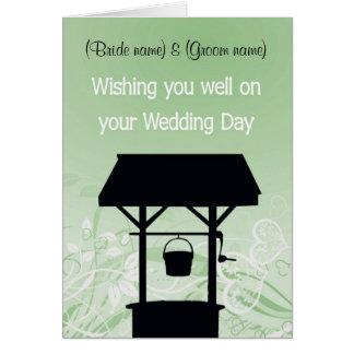 """Cartão """"Desejando bem"""" o cartão, excelente para presentes"""
