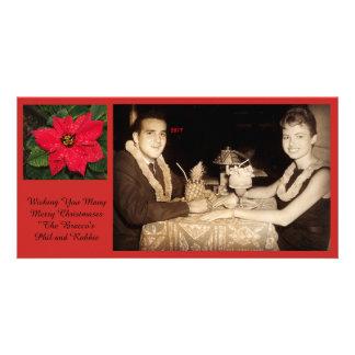 Cartão Desejando lhe muito Christmases alegre