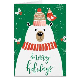 Cartão Desejando lhe muito um Natal de Beary