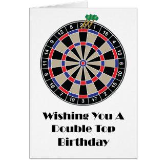Cartão Desejando lhe um aniversário superior dobro