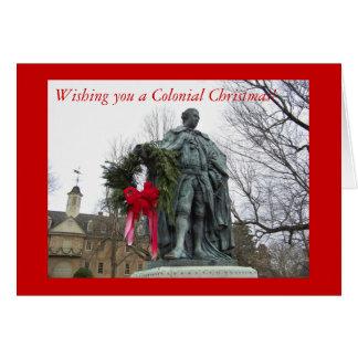 Cartão Desejando lhe um Natal colonial