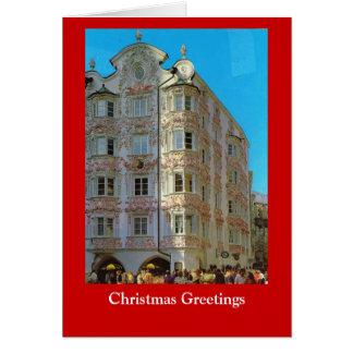 Cartão Desejando lhe um Natal feliz, vintage Viena