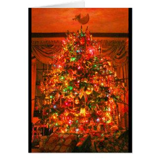 Cartão Desejando lhe um Natal que seja alegre & brilhante