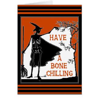 Cartão Desejando lhe um osso que refrigera o Dia das