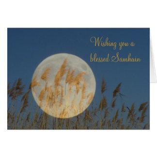 Cartão Desejando lhe um Samhain abençoado