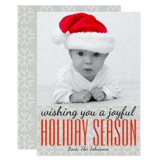 Cartão Desejando lhe uma época natalícia alegre