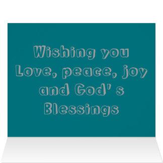 Cartão Desejando o ame o modelo do cumprimento da alegria