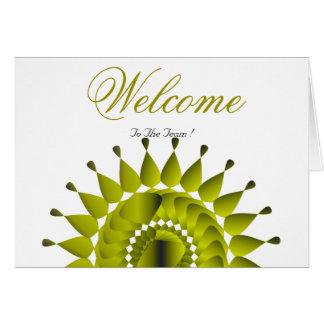 Cartão Desejo bem-vindo mínimo branco de Lotus
