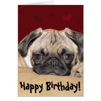 Cartão Desejo bonito do aniversário do filhote de