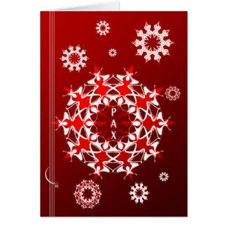 Cartão Desejo da paz de mundo