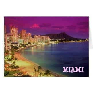 Cartão DESEJO de MIAMI BEACH, Florida 'VOCÊ ERA HERE