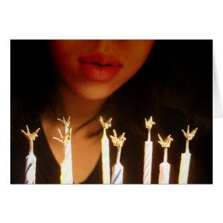Cartão Desejo do aniversário